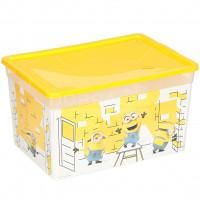 Ящик для игрушек Полимербыт Миньоны С71765, 37х26х20.7