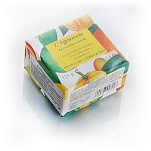 Мыло натуральное растительное с эфирным маслом грейпфрута, 1 шт. (Iteritalia)