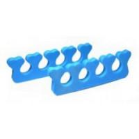 Разделители для пальцев, голубой, 1 пара (Чистовье)