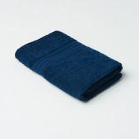 Полотенце махровое 50*90 см, темно синий,
