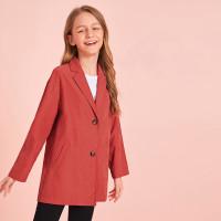 Стильный пиджак с пуговицами для девочек