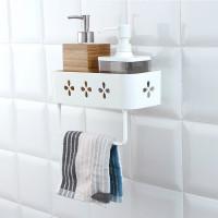 Настенный стеллаж для хранения в ванной комнате