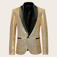 Мужской пиджак с шалевым воротником и блестками
