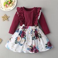 Цветочная сарафан юбка и комбинезон с оборками
