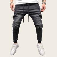 Мужские джинсы на кулиске с карманом