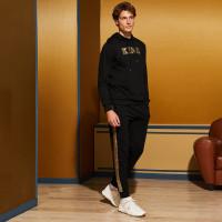 Мужские спортивные брюки и толстовка с блестками