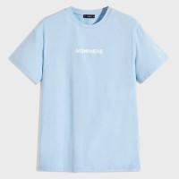 Мужская футболка с коротким рукавом и текстовым