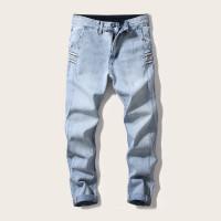 Мужские прямые джинсы с лентой