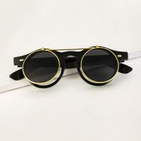 Мужские круглые солнцезащитные очки с тонированными линзами