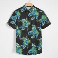 Мужская Рубашка С Тропическим Принтом