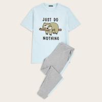 Мужские спортивные брюки и футболка с мультяшным