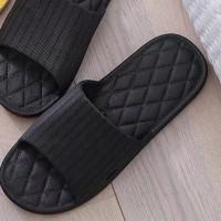 Мужские полосатые тапочки с открытым носком
