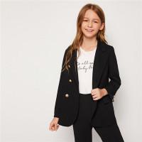 Двубортный пиджак для девочек