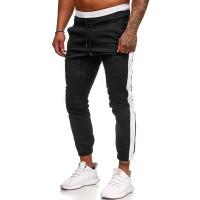 Мужские спортивные брюки на кулиске с полосками