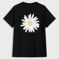 Мужская футболка с цветочным принтом