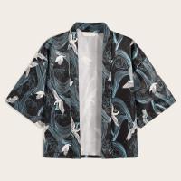 Мужское кимоно с принтом