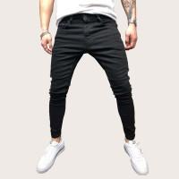 Мужские контрастные прямые джинсы