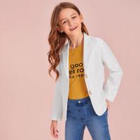 Пиджак с пуговицами для девочек