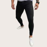Мужские однотонные джинсы с пуговицами