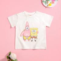 Губка Боб x SHEIN футболка с мультяшным