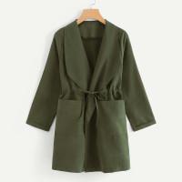 Пальто с кулиской и двумя кармана