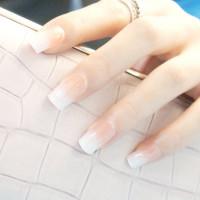 24шт Градиентные накладные ногти и 1шт двухсторонняя