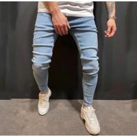 Мужские облегающие джинсы с пуговицами