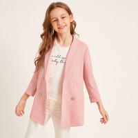 Двубортный пиджак с шалевым вырезом для девочек