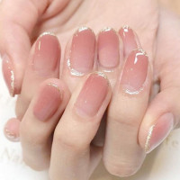Градиентные накладные ногти 24шт