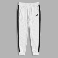 Мужские спортивные брюки с текстовым принтом, полосками