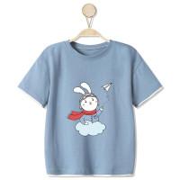 Футболка с принтом кролика для мальчиков