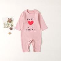 Розовый Лозунг Повседневный Боди для малышей