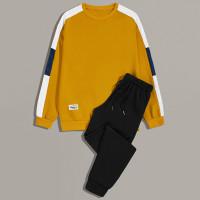 Мужской контрастный свитшот и спортивные брюки