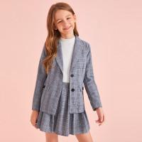 Юбка и пиджак в клетку для девочек