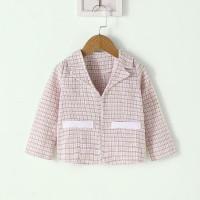 Твидовый пиджак с карманом для девочек