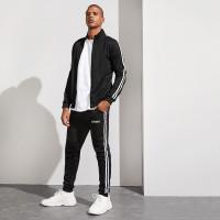 Мужские спортивные брюки и куртка с полосками
