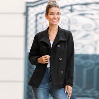 Двубортное твидовое пальто с поясом