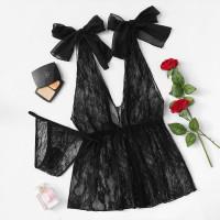 Кружевное платье комплект с v образным вырезом