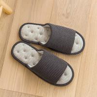 Мужская вельветовая тапочка с открытым носком