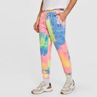 Мужские разноцветные спортивные брюки с вышивкой