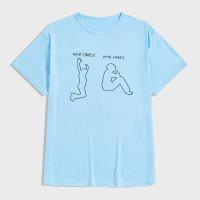 Мужская футболка с текстовым и графическим принтом
