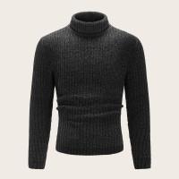 Мужской трикотажный свитер с высоким вырезом