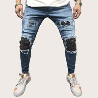 Мужские джинсы с необработанной отделкой