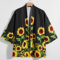 Мужское кимоно с принтом подсолнуха