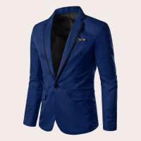 Мужской контрастный цветочный пиджак на пуговицах