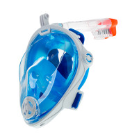 Маска Подводная Полнолицевая  Marlin Vision Белая/синяя