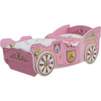 Кровать Мэри Принцесса розовый/белый карета