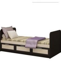 Кровать Миф Алекс 0,8м , венге/дуб беленый