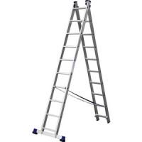 Лестница двухсекционная Сибин 10 ступеней (38823 10)
