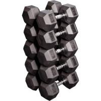Набор гантелей Body Solid гексагональных: 5